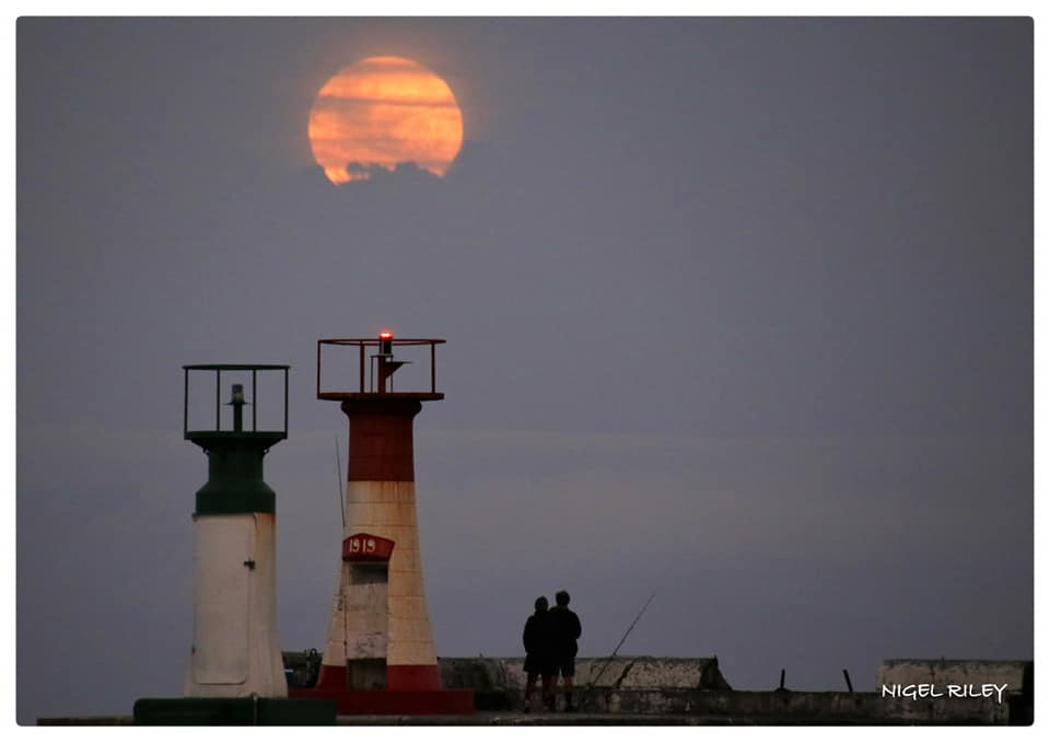 Strawberry moon shines bright over the Cape