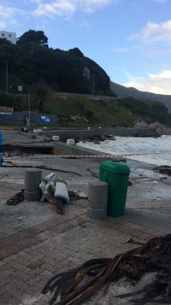 The storm has destroyed infrastructure at beaches as well (Source: Tammy Matthyssen/Hout Bay Neighbourhood Watch/Facebook)
