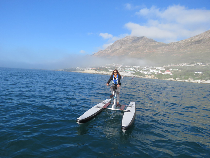 Water bike around Cape Town this weekend