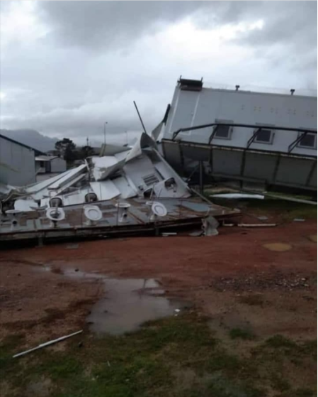 Nonzamo High School in Strand was destroyed during the storm (Source: Equaledu)