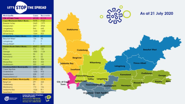 Western Cape COVID-19 deaths increase by 40