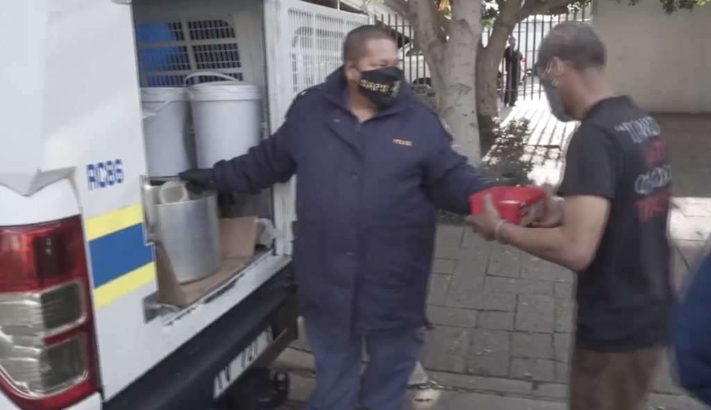 Police team feed Cape Town's homeless