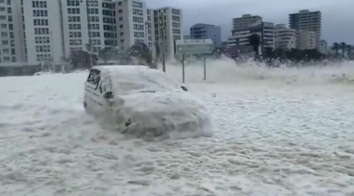 Storm leaves damage in its wake, intense cold front arrives