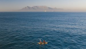 Father and son build raft during lockdown and paddle to Robben Island