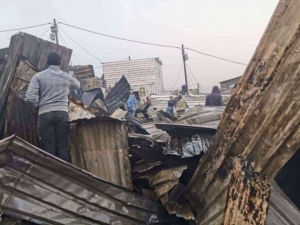 Help families whose homes were damaged by fire in Mandela Park