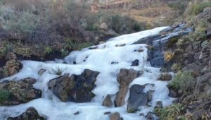 Waterfall freezes over as temperatures dip across the Cape