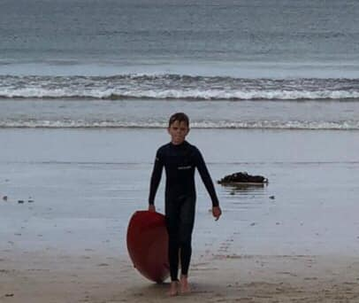 Young nipper saves men floating on mattress at Fish Hoek Beach