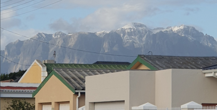 Snow blankets part of the Cape, with more to come