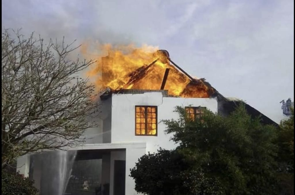 Homes gutted by fire in Wellington