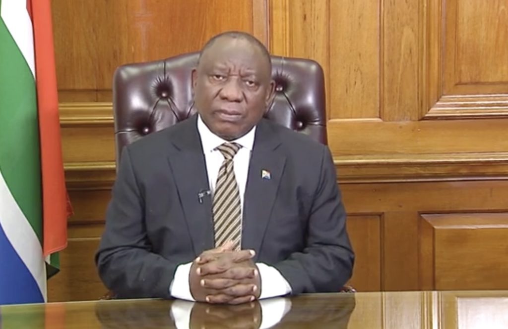 President Ramaphosa moves South Africa to Level 1