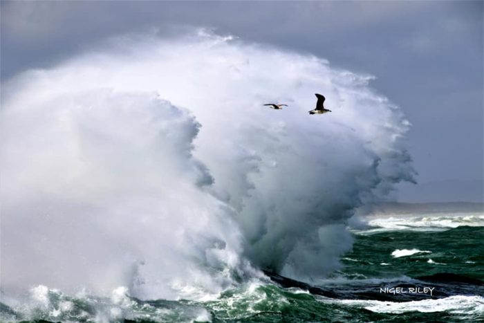 Strong winds stir up the Cape seas