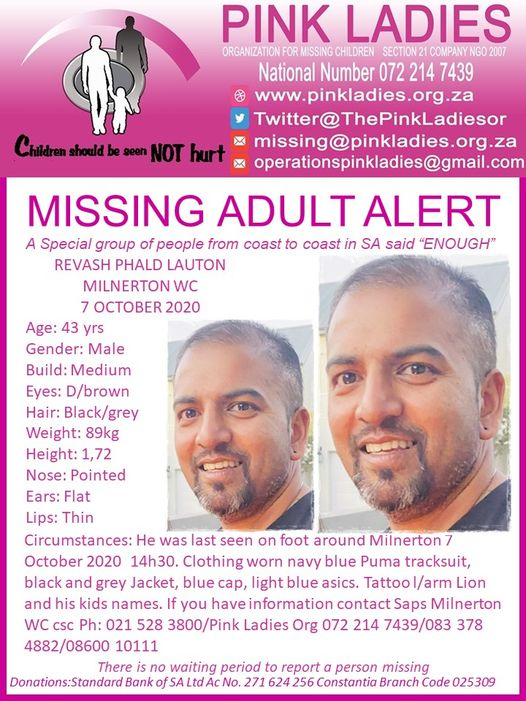 Milnerton police search for missing man