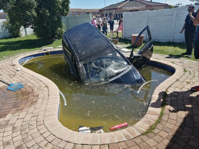 Woman allegedly knocks ex-husband's car into pool