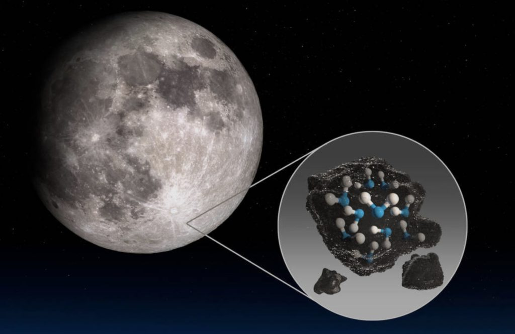 Water found on the sunlit surface of the Moon