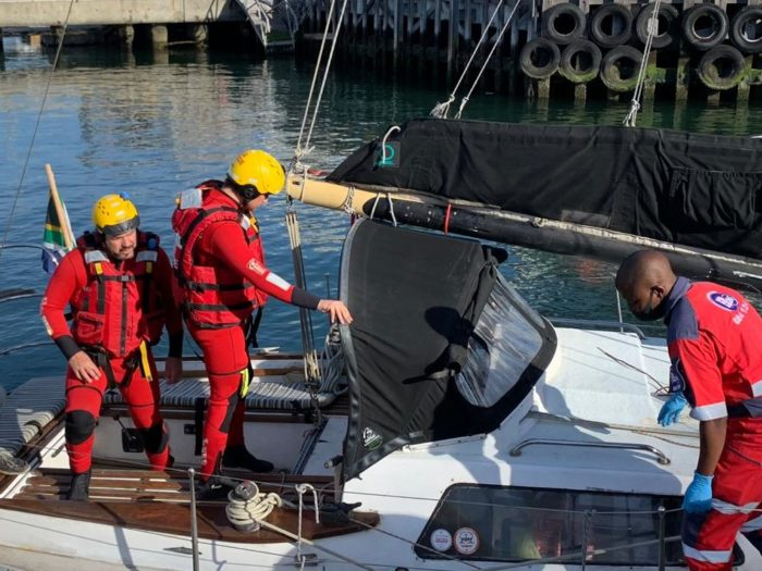 Yacht crew saves lives of capsized kayakers
