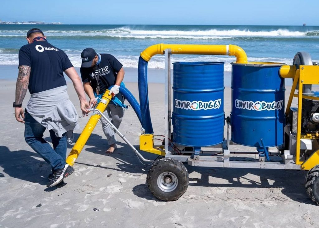 Cape Town initiative creates nurdle vacuum to suck up plastic from sand