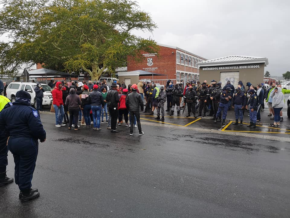 EFF protests at Bellville High School following racist allegations