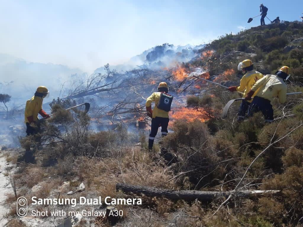 Western Cape firefighters contain blazes