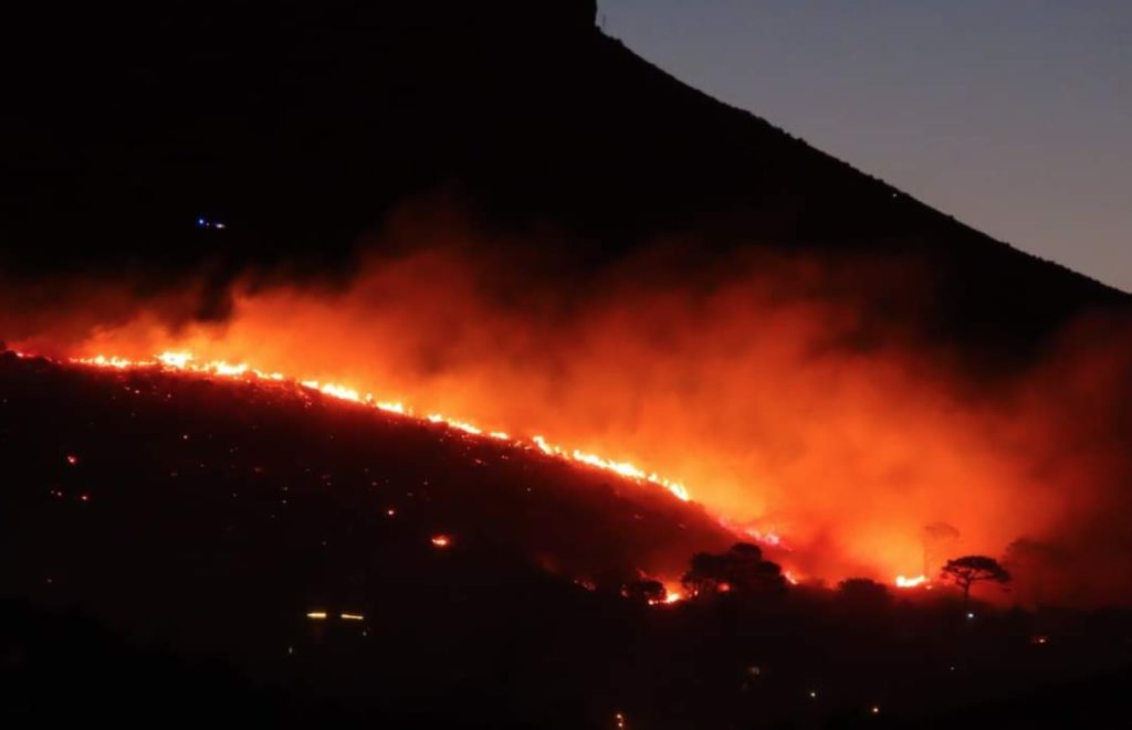 "Table Mountain fire started by ""vagrants"""