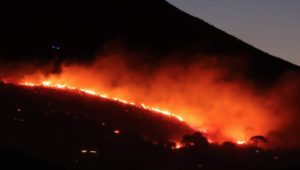 """Table Mountain fire started by """"vagrants"""""""