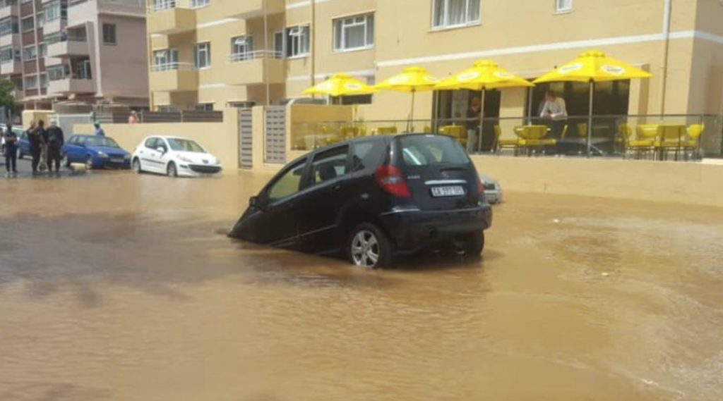Sea Point streets flooded, residents left without water
