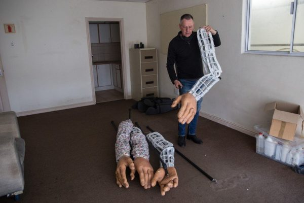 Giant puppet's 8,000 km journey started in Muizenberg