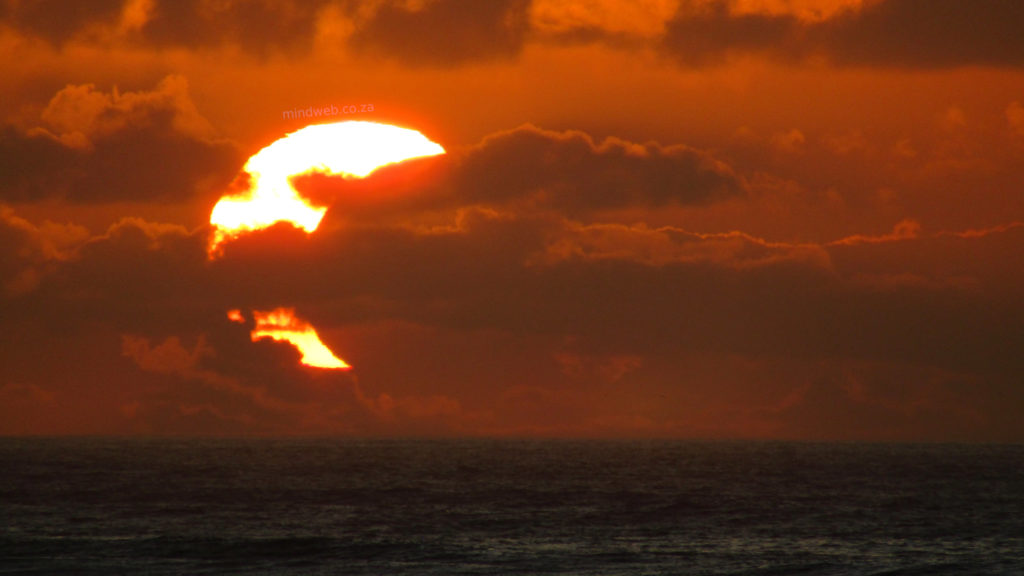 Partial solar eclipse lights up the sky in Cape Town