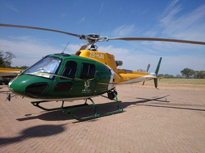 SANParks helicopter patrols Table Mountain National Park