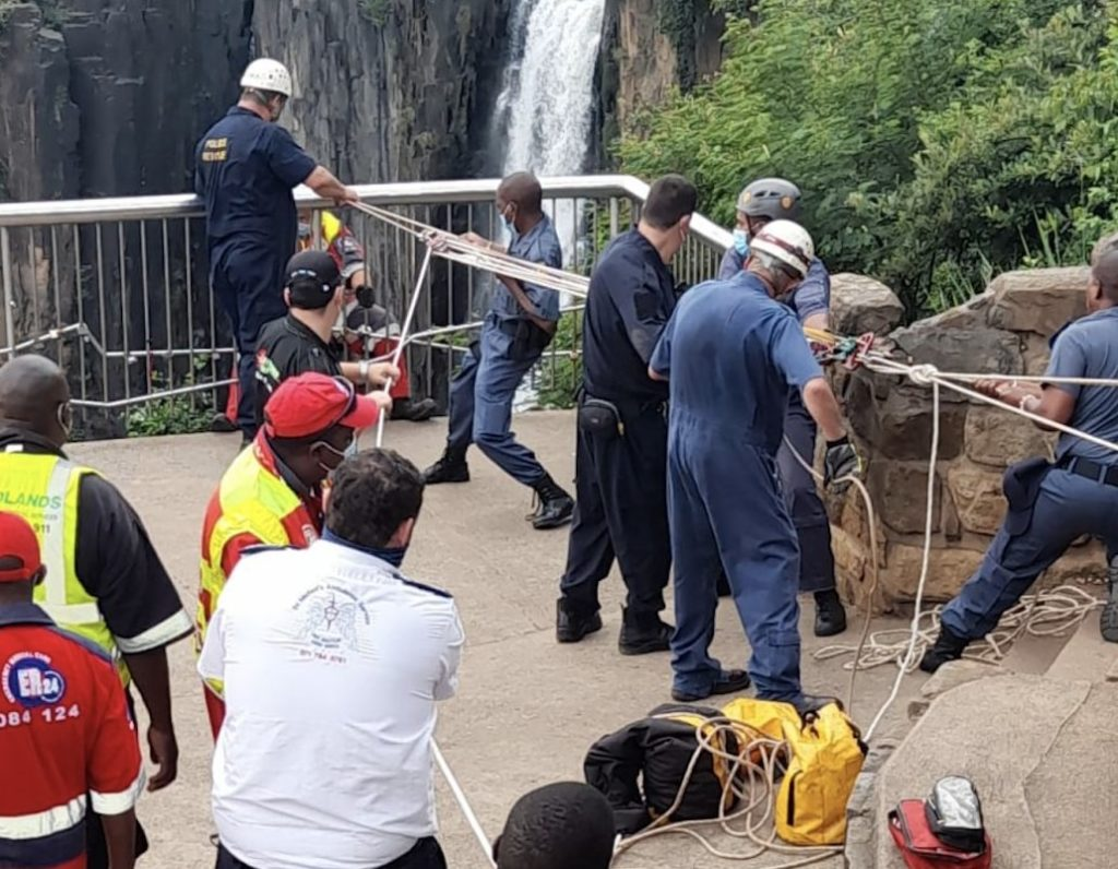 Man survives fall off viewing platform in Howick Falls, KZN