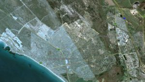 Google Earth images show how the Bloubergstrand area has changed since 2002