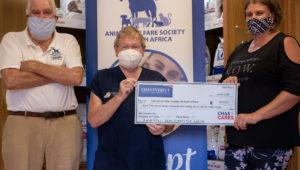 Chas Everitt donates over R18k to Animal Welfare Society