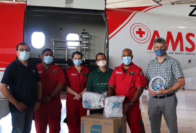 Gift of the Givers donates lifesaving medical equipment to AMS