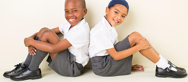 Use your spare change to help a child receive their school uniform