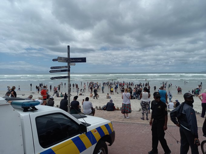 People gather on Cape beaches to protest against lockdown