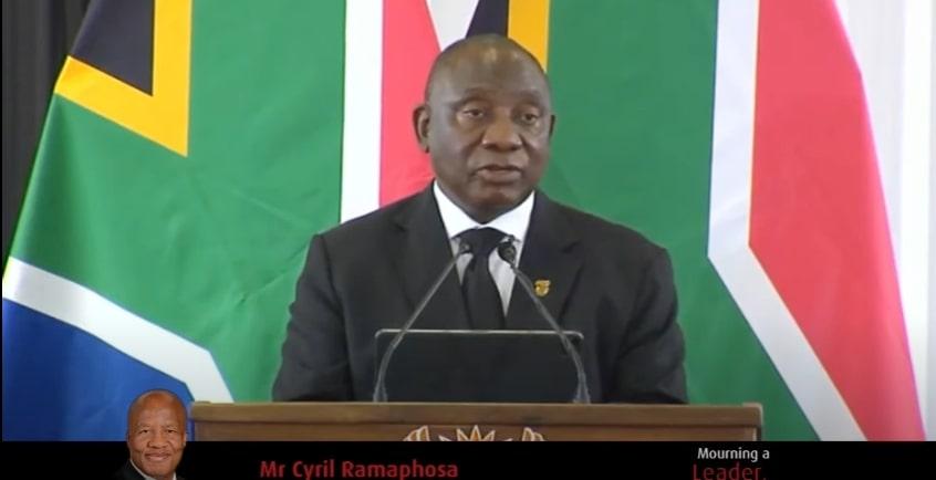 President Ramaphosa speaks at funeral service for Minister Jackson Mthembu