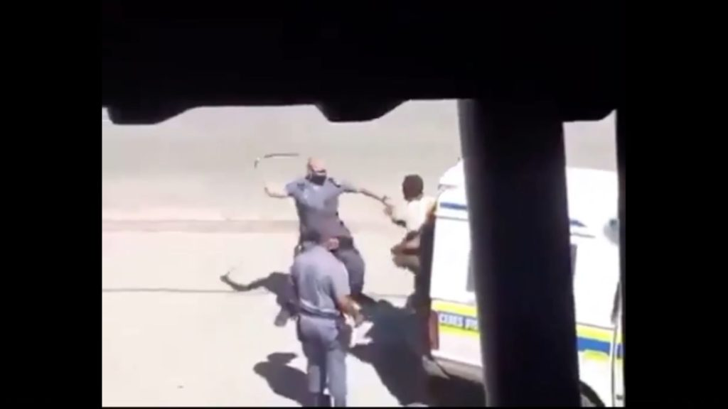 Worcester police officer whips man with sjambok in viral video