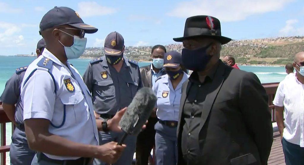 Bheki Cele patrols Mossel Bay beaches