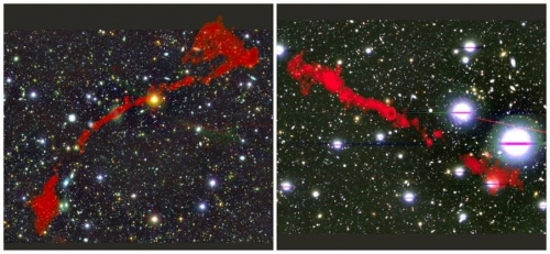 Two rare radio galaxies discovered by SA's MeerKAT telescope