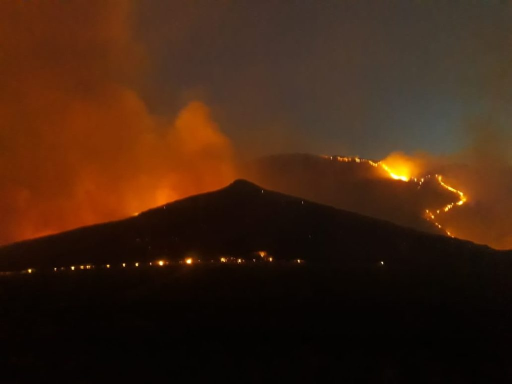 Barrydale residents warned to expect smoke and fire close to town