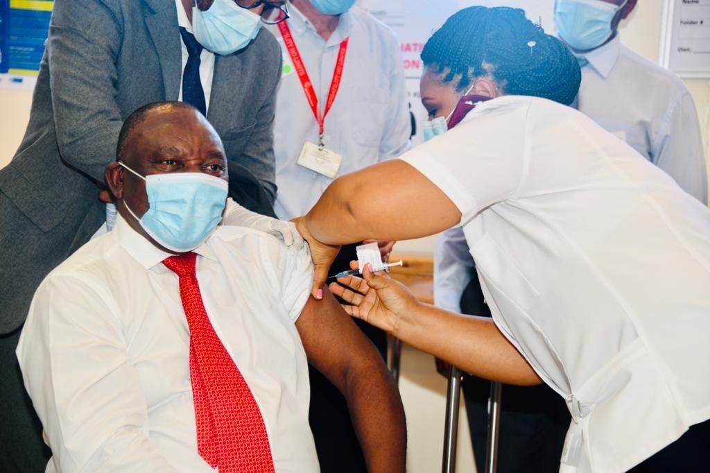 President Ramaphosa receives COVID-19 vaccine