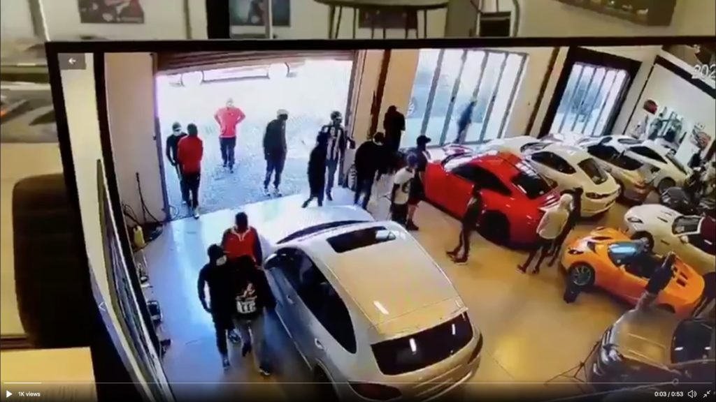 Luxury vehicle showroom in Paarden Eiland attacked by 40 people