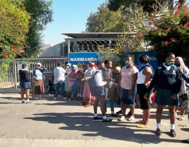 Parents shut down high schools, demanding places for their children