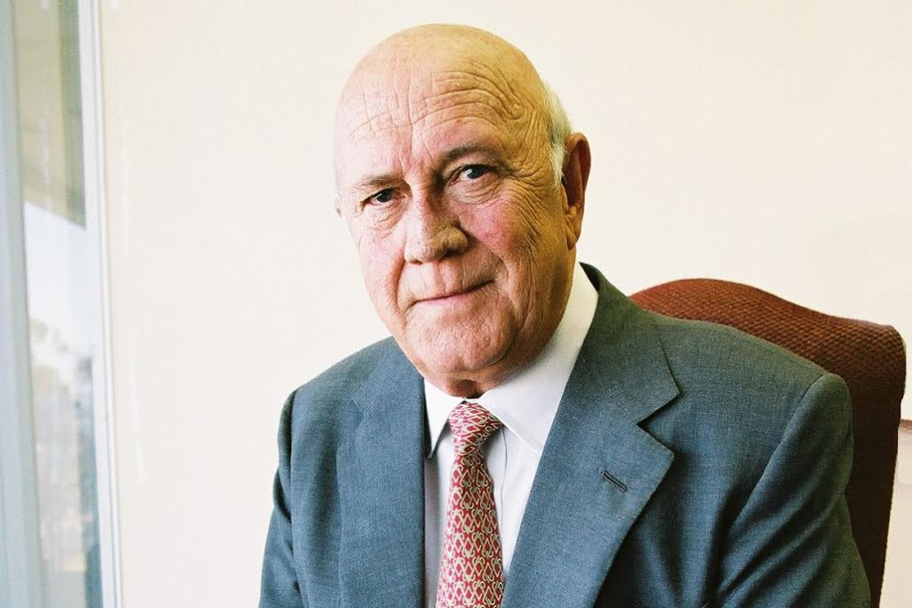 FW de Klerk diagnosed with cancer as he celebrates 85th birthday