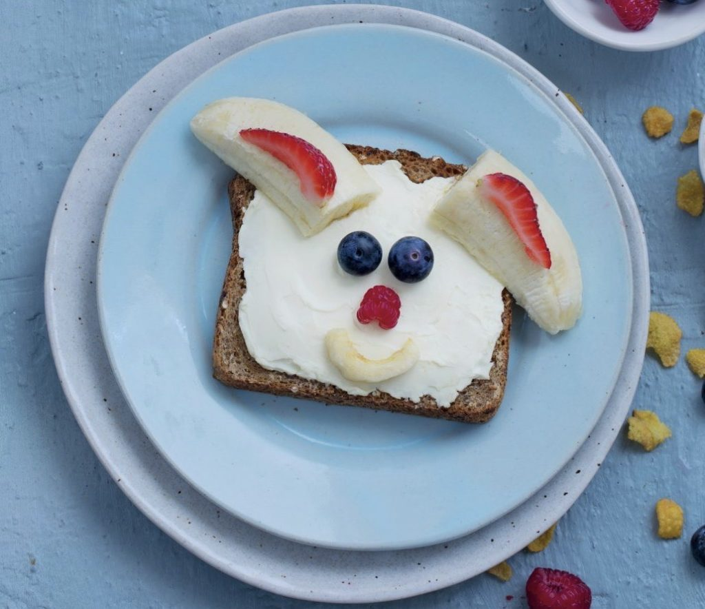 Healthy Easter Bunny Toast for kiddies