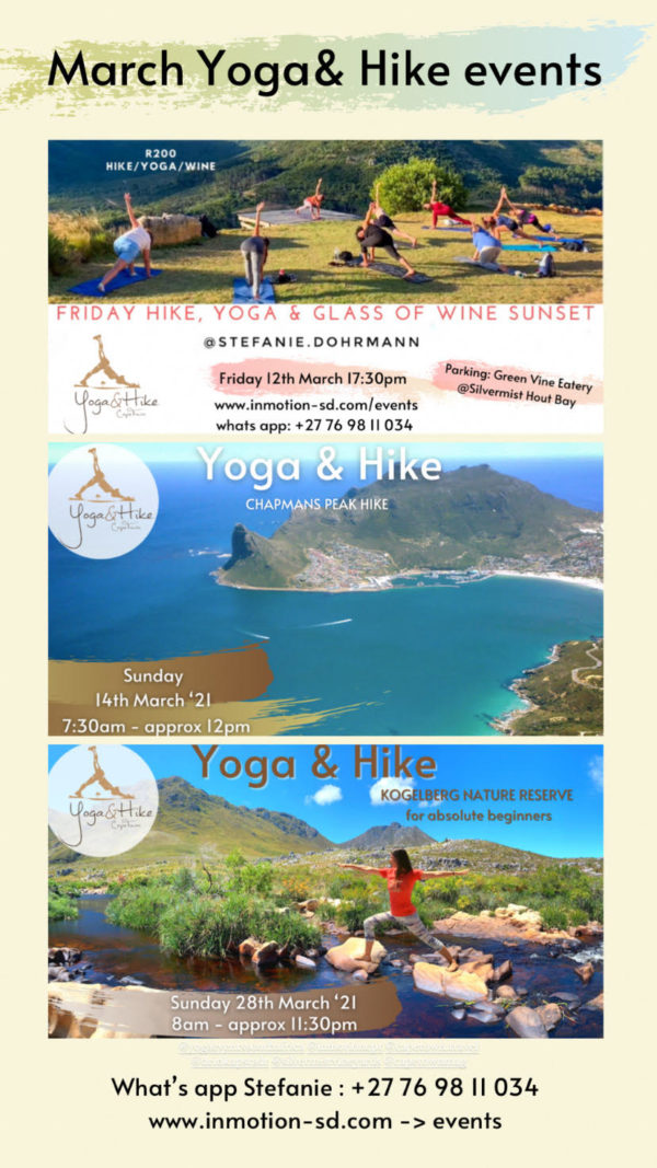 Yoga and Hike events