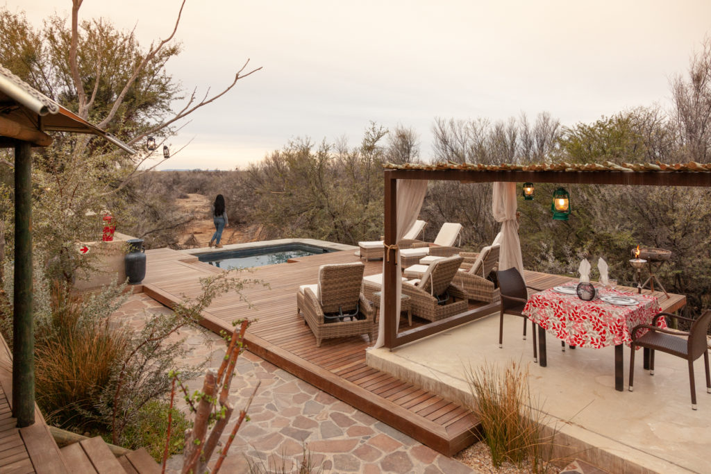 Lounge in luxury at the Kuganha Tented Camp and Spa