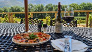 Pizza and wine tasting at Rickety Bridge Winery
