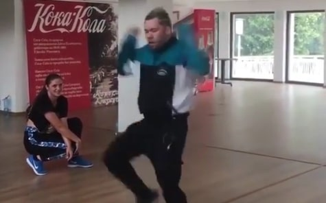SA choreographer Rudi Smit tears up the dance floor