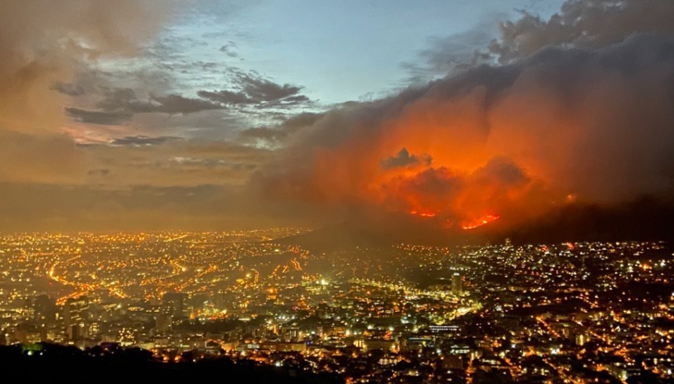 Cape Town fire series: before and after