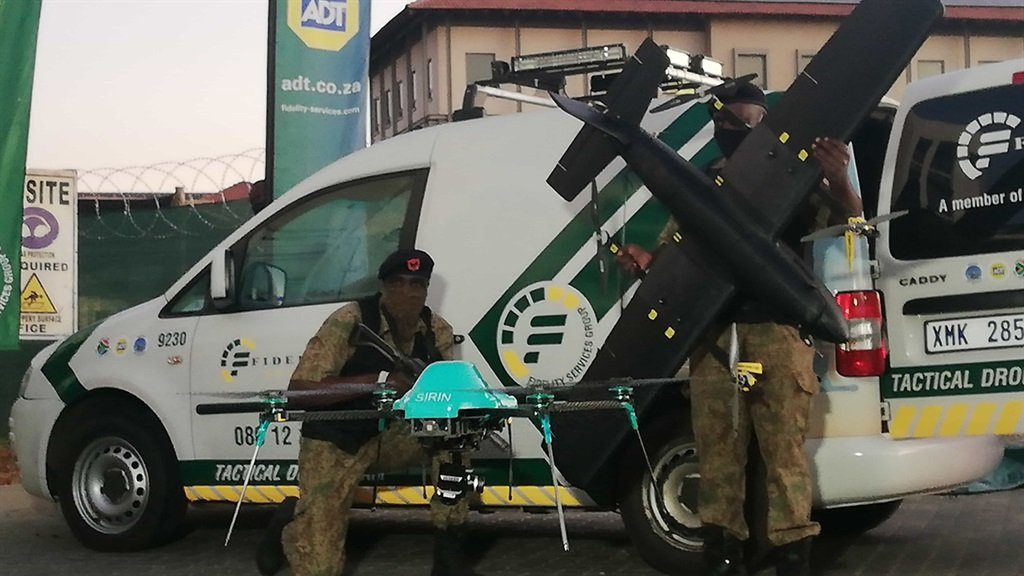 Fidelity security now uses drones to track criminals in SA